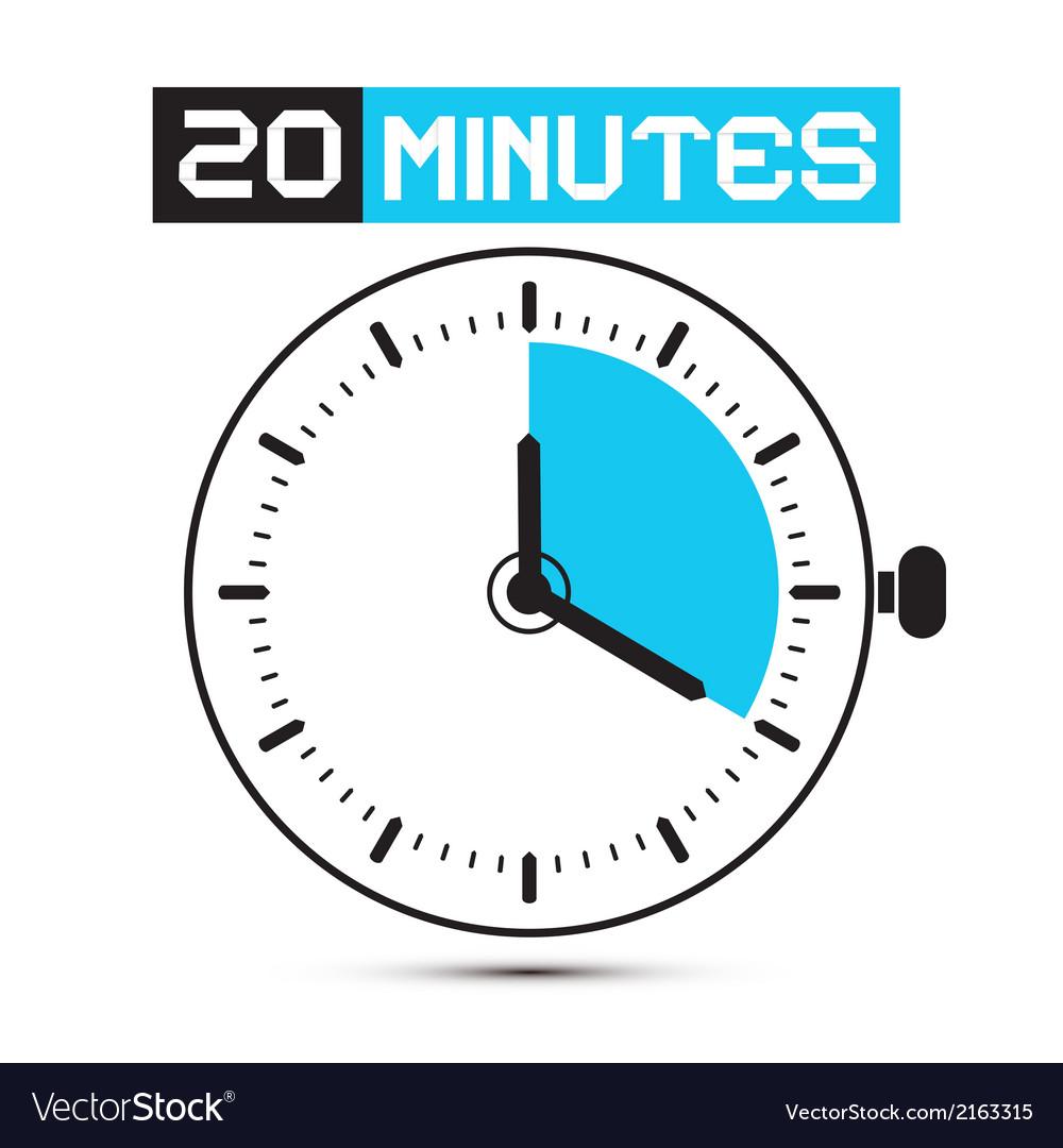 Twenty minutes stop watch - clock vector | Price: 1 Credit (USD $1)