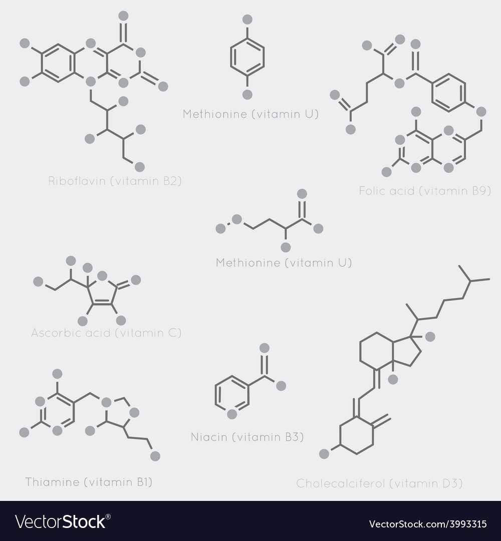 Vitamin skeletal formula vector | Price: 1 Credit (USD $1)