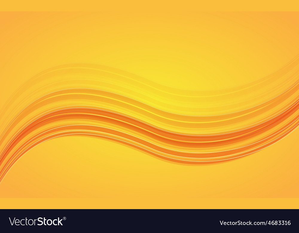 Abstract orange waves - data stream concept vector | Price: 1 Credit (USD $1)