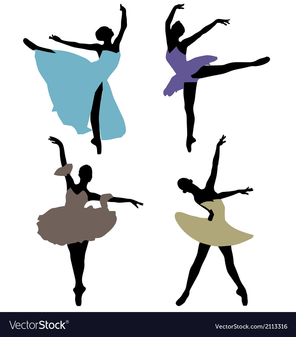 Ballerinas 2 vector | Price: 1 Credit (USD $1)