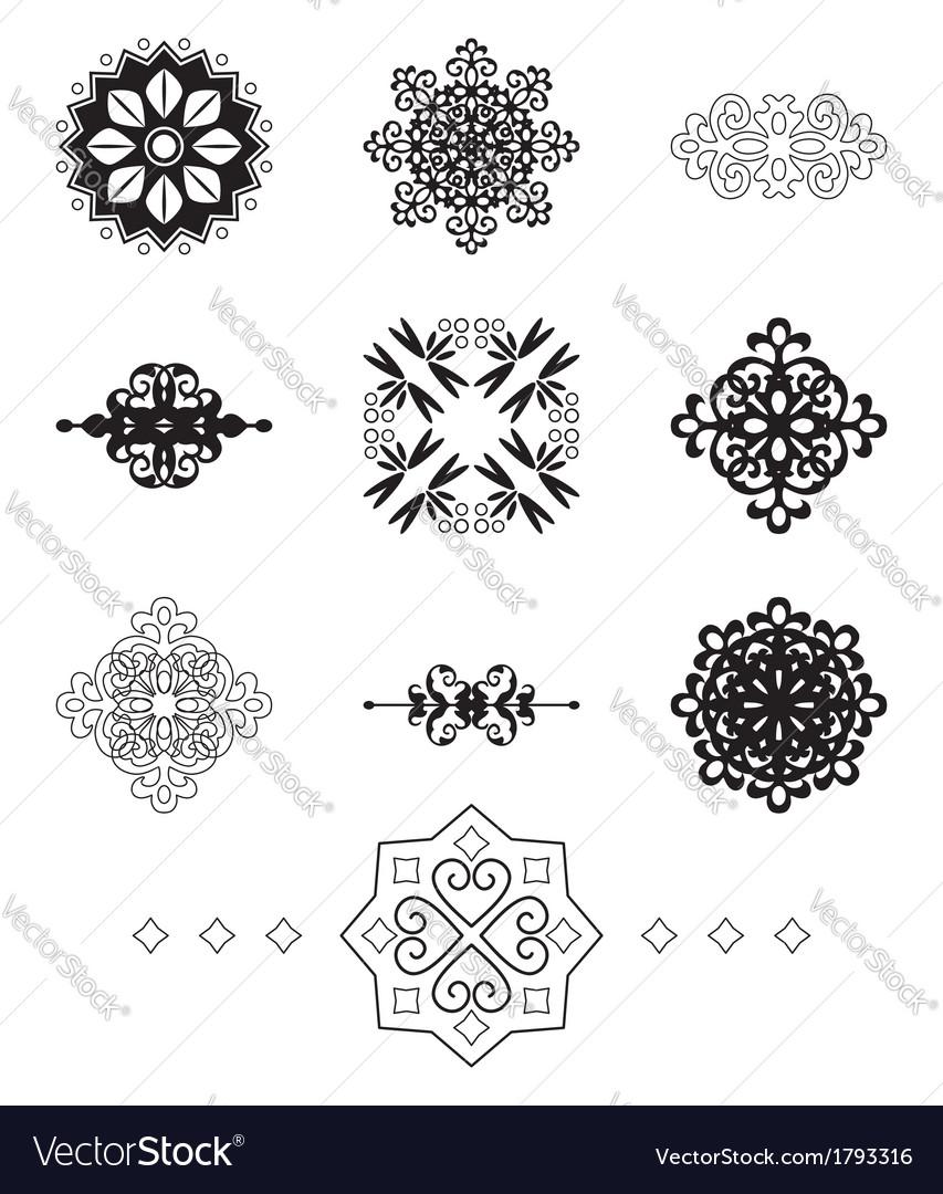 Black decorative elements vector | Price: 1 Credit (USD $1)