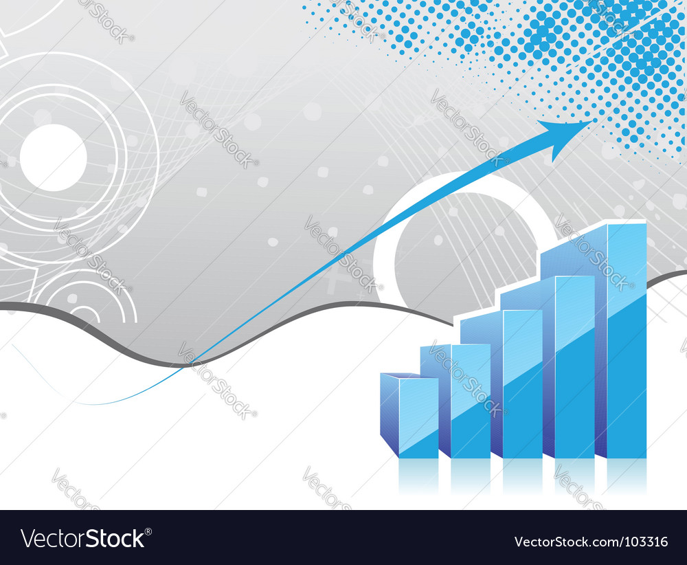 Graph showing rise in profits vector | Price: 1 Credit (USD $1)