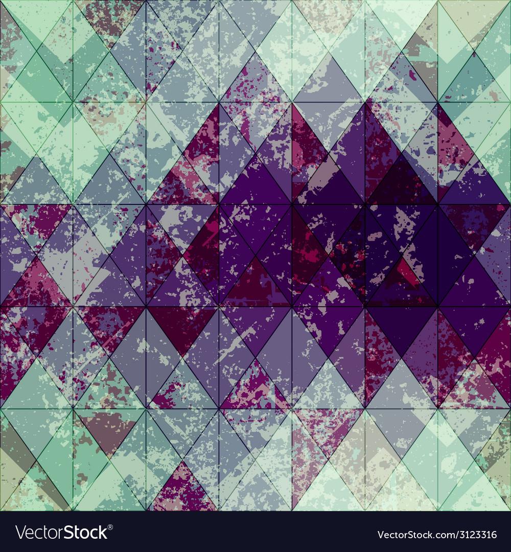 Grunge rhomboid pattern vector   Price: 1 Credit (USD $1)