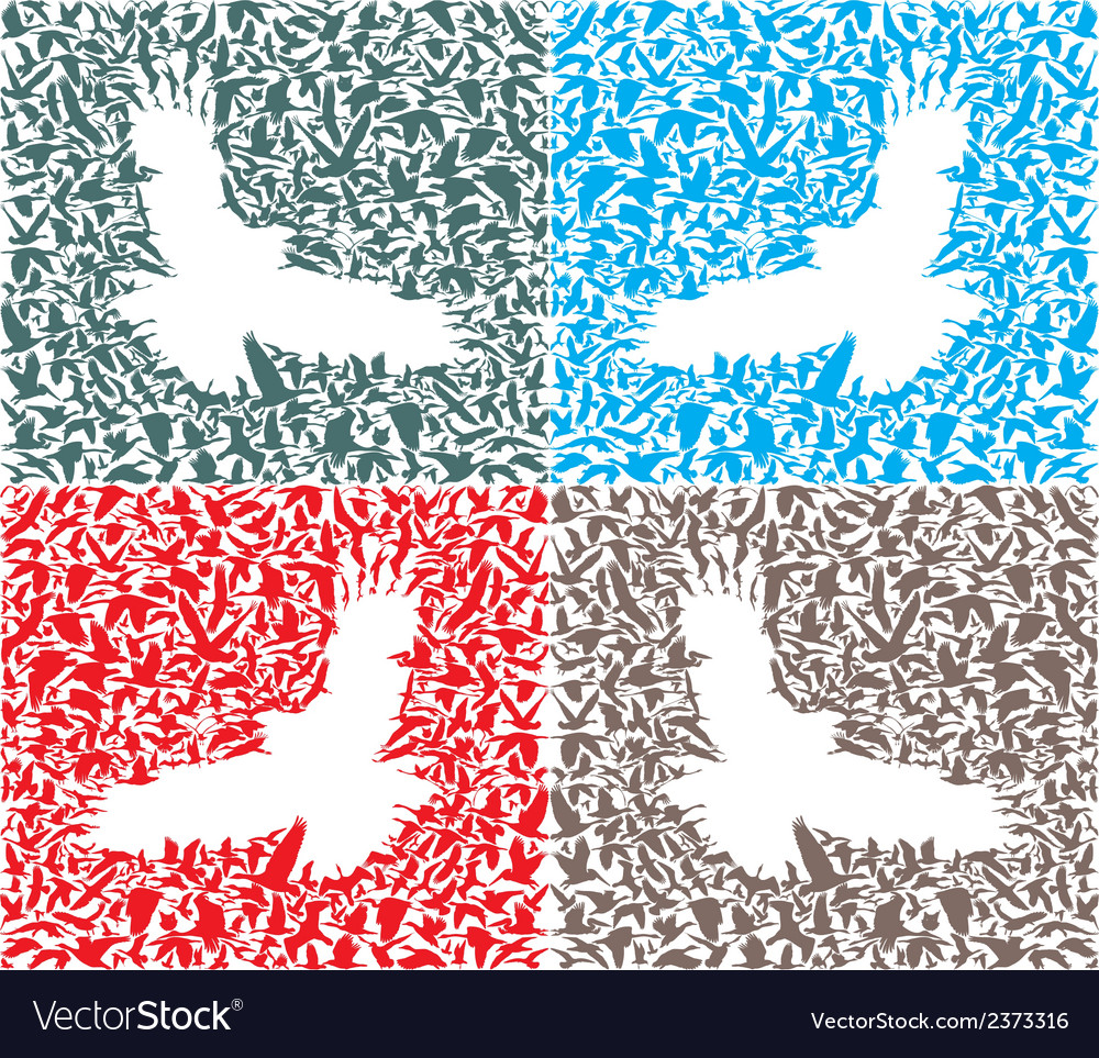 Isolated background of bird predator and its prey vector | Price: 1 Credit (USD $1)