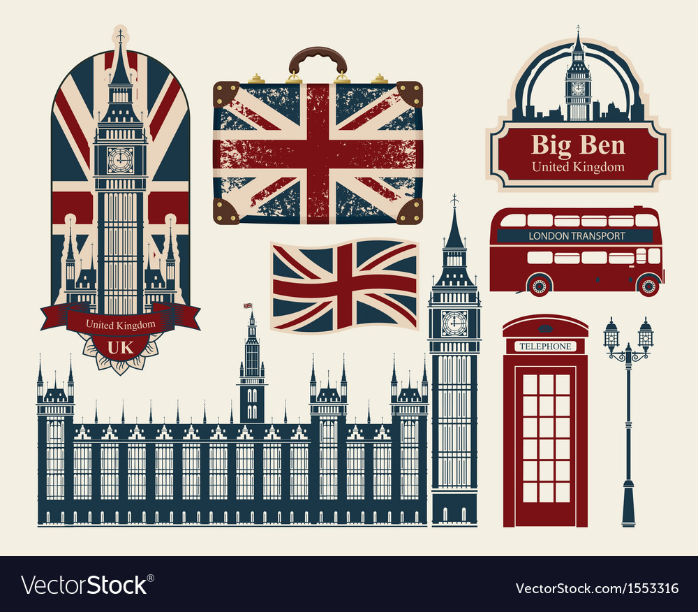 London set vector | Price: 3 Credit (USD $3)