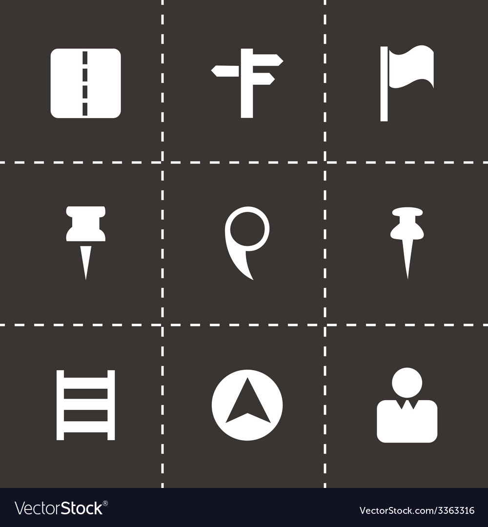 Map pointer icons set vector | Price: 1 Credit (USD $1)