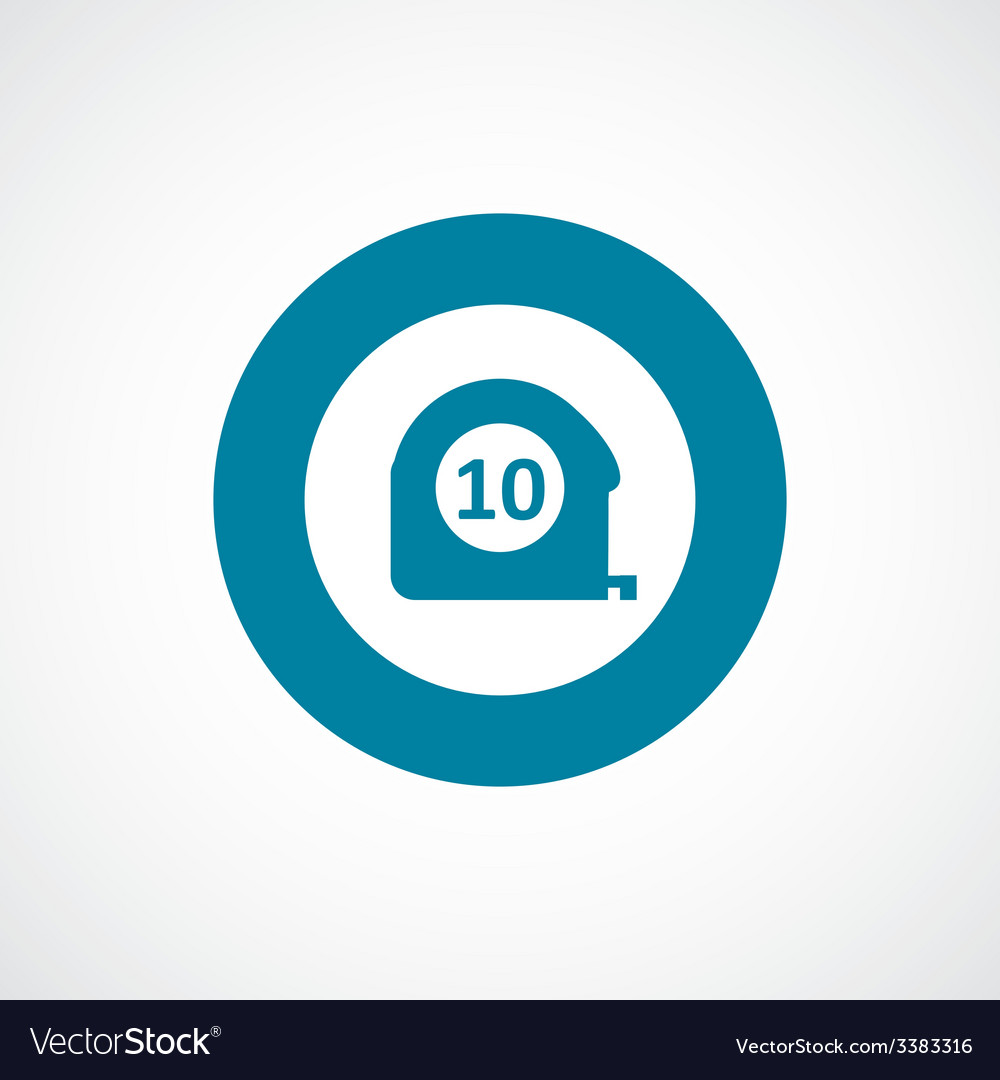 Measurement bold blue border circle icon vector | Price: 1 Credit (USD $1)