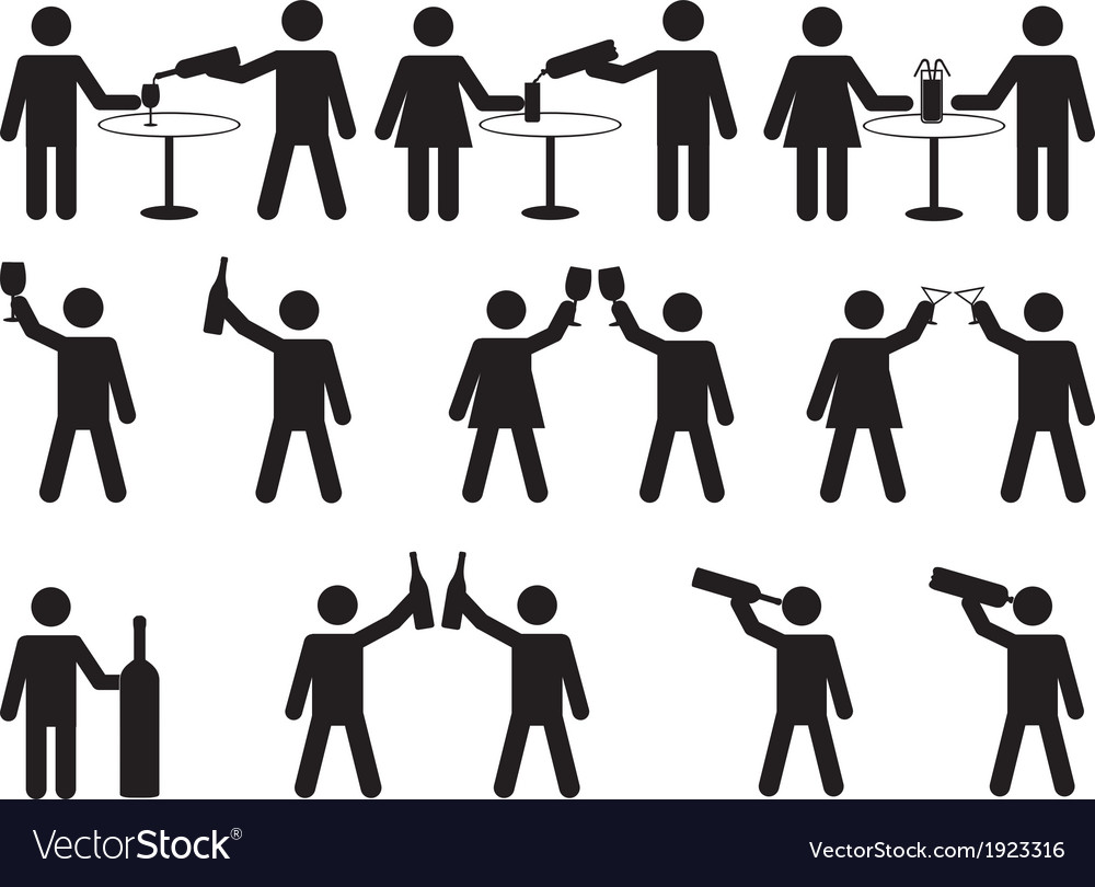 Pictogram people drinking vector | Price: 1 Credit (USD $1)