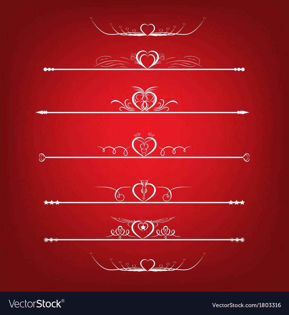 Set valentines day design elements vector | Price: 1 Credit (USD $1)