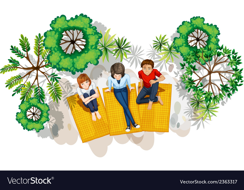 A topview of the people at the park vector | Price: 1 Credit (USD $1)