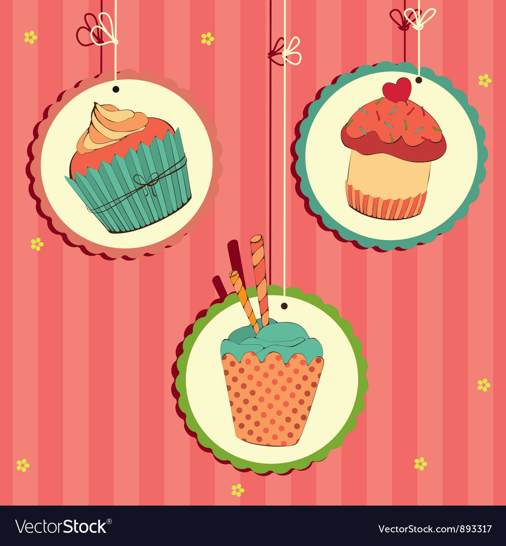 Cakes in frame on the string vector | Price: 1 Credit (USD $1)