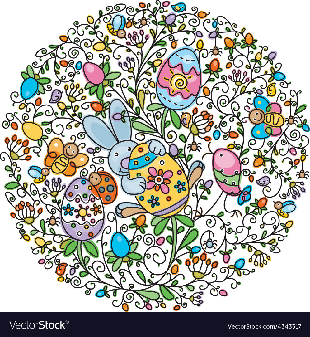 Circle easter vector | Price: 1 Credit (USD $1)