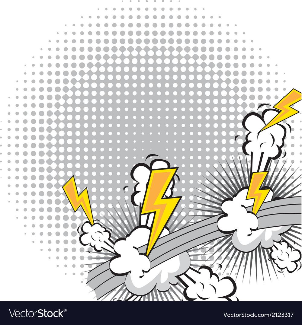 Comic explosion vector | Price: 1 Credit (USD $1)