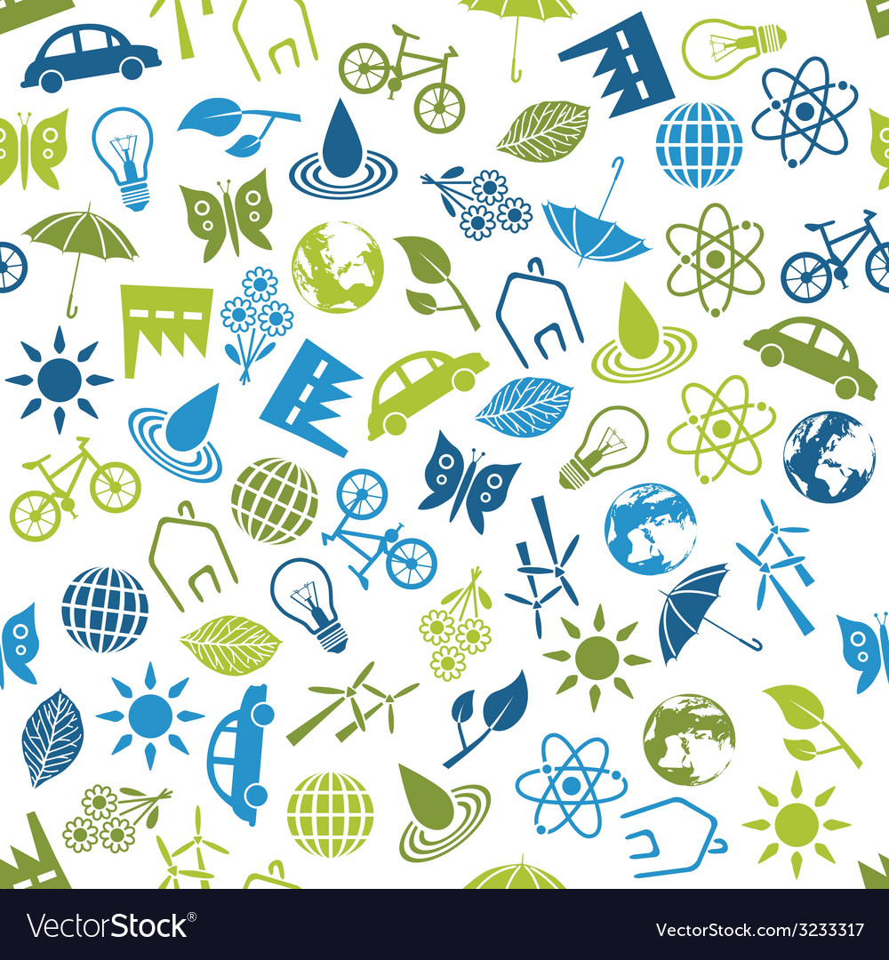 Environment seamless pattern vector | Price: 1 Credit (USD $1)