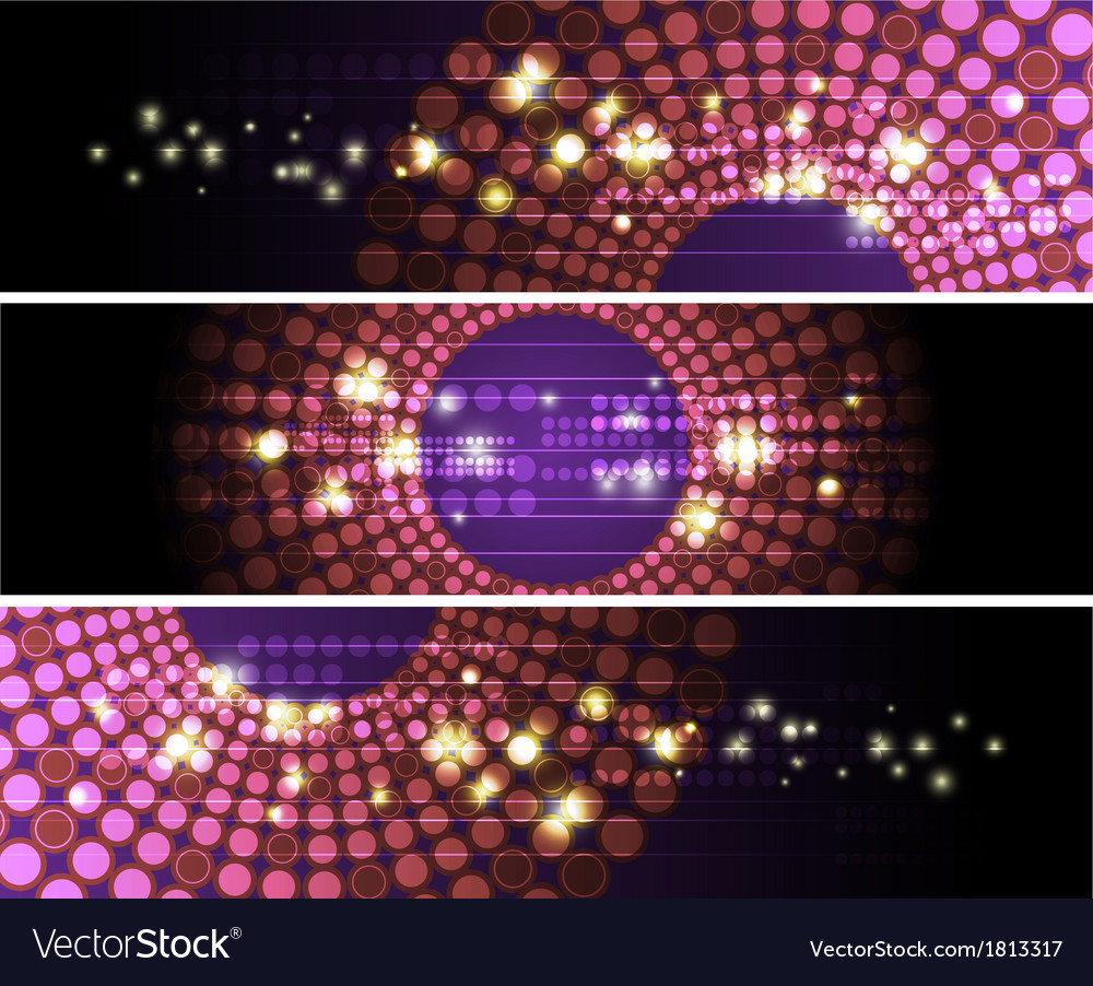 Glowing circle banner design vector | Price: 1 Credit (USD $1)