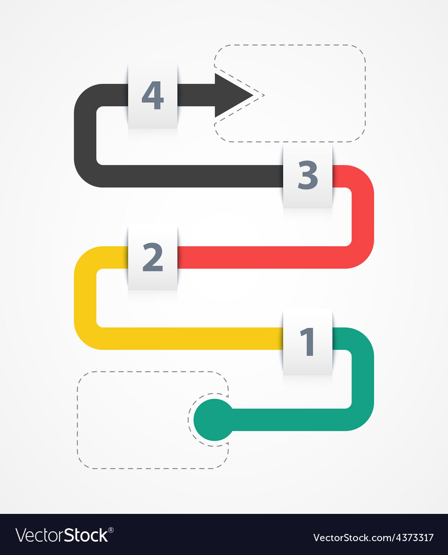 Infographic four options vector | Price: 1 Credit (USD $1)