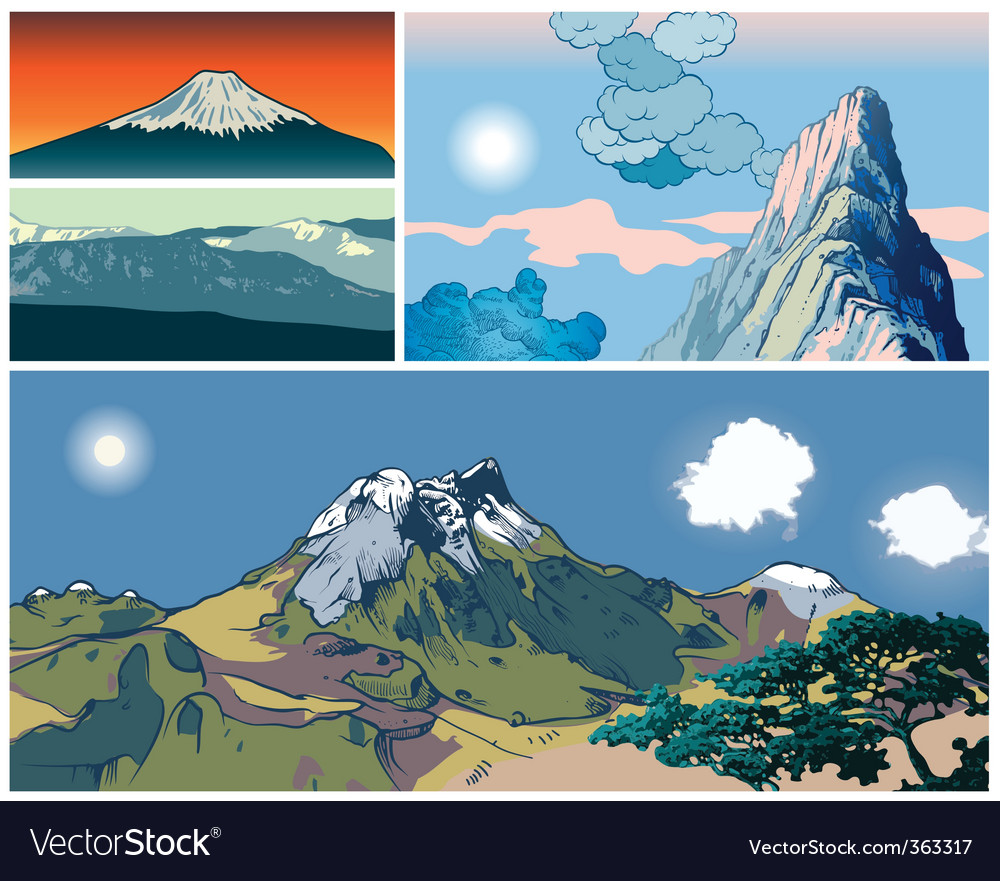 Mountains vector | Price: 3 Credit (USD $3)