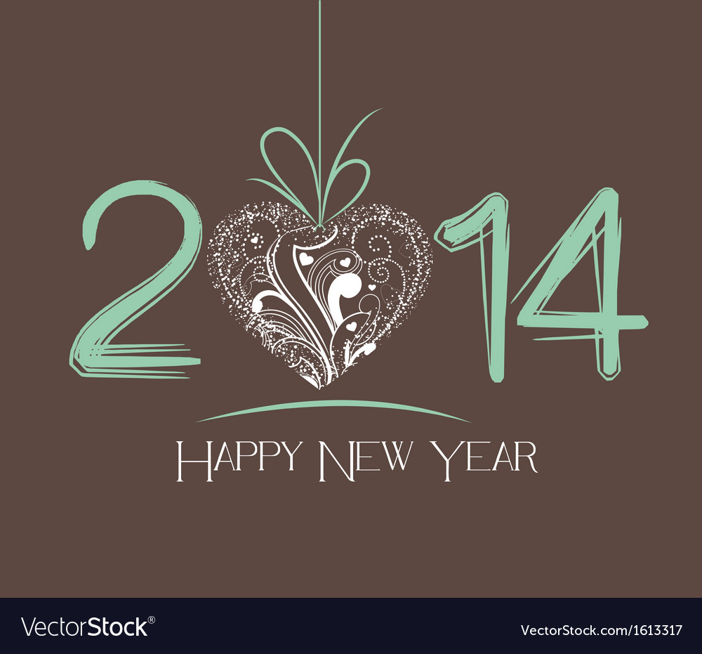 New year greeting card vector   Price: 1 Credit (USD $1)