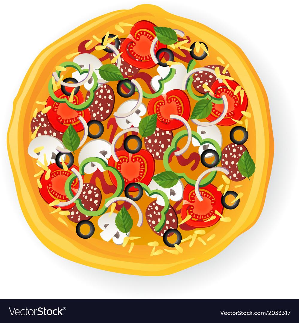 Pizza icon vector | Price: 1 Credit (USD $1)