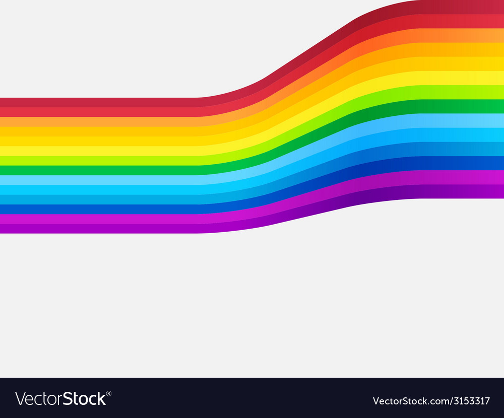 Rainbow curve bg vector | Price: 1 Credit (USD $1)
