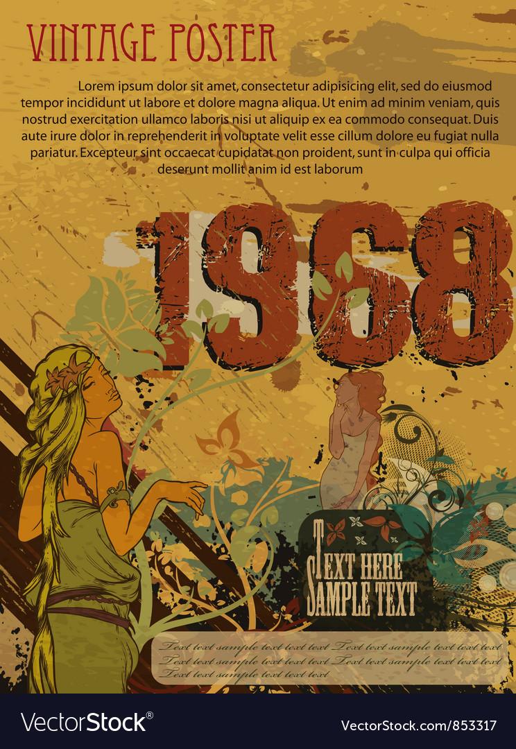 Retro grunge poster vector | Price: 1 Credit (USD $1)