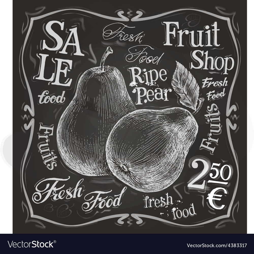 Ripe pear logo design template fresh fruit vector | Price: 3 Credit (USD $3)