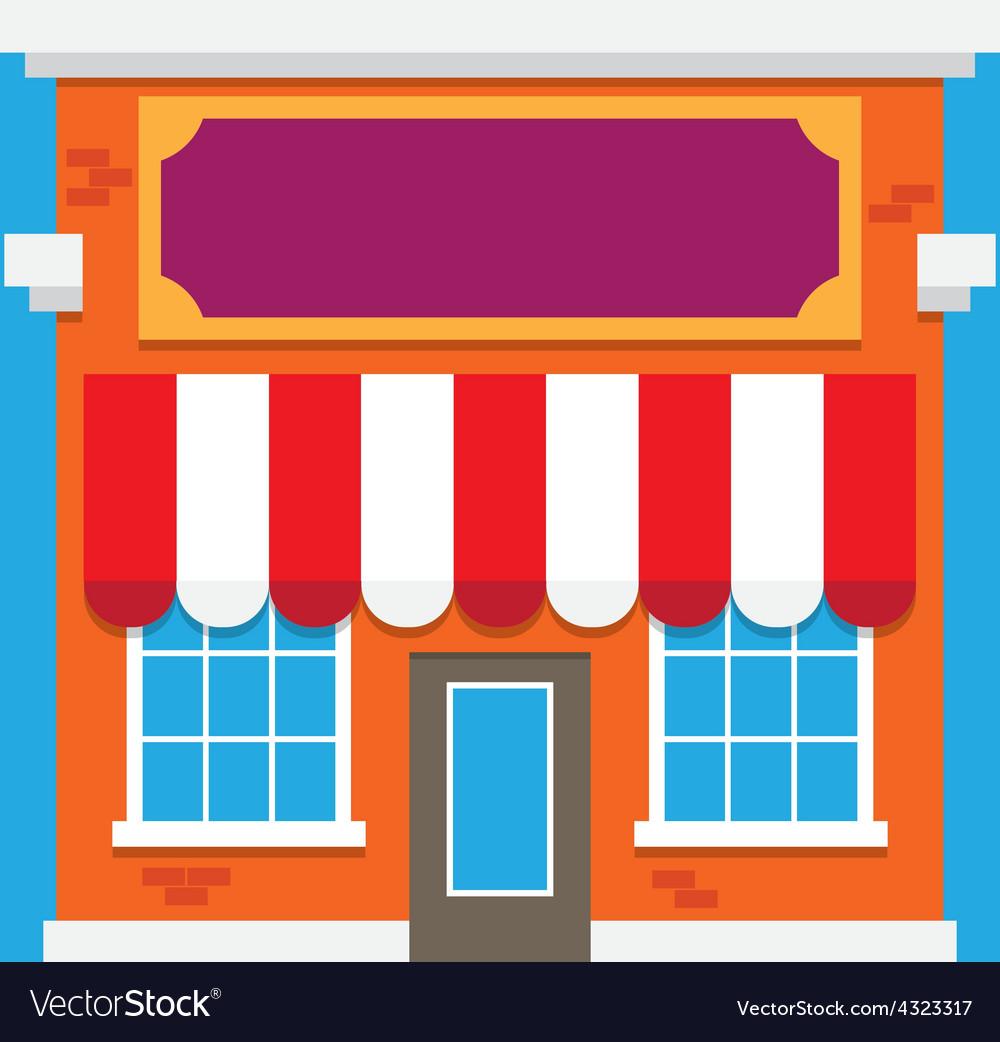 Shop building vector | Price: 1 Credit (USD $1)