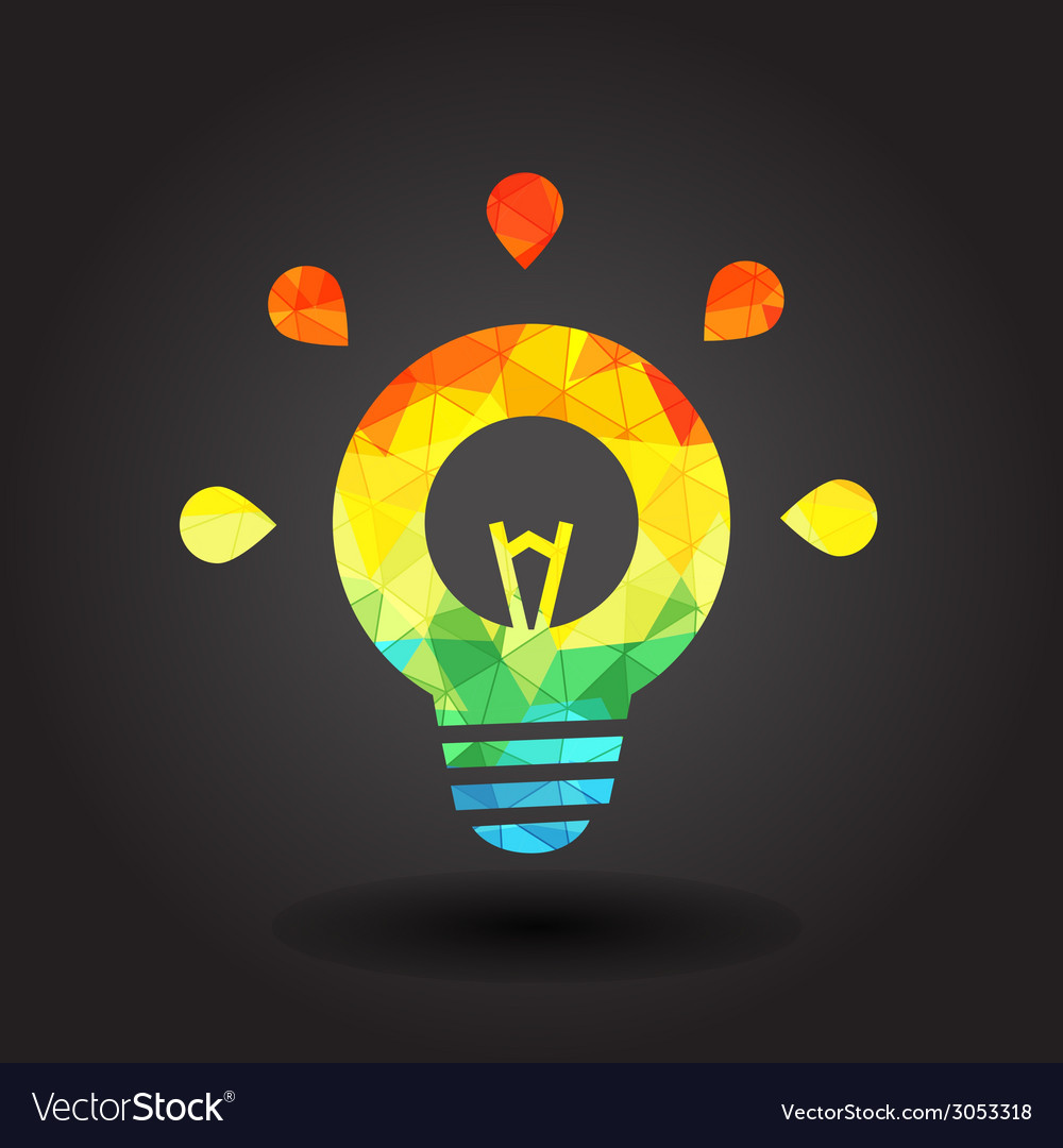Abstract light bulb vector | Price: 1 Credit (USD $1)