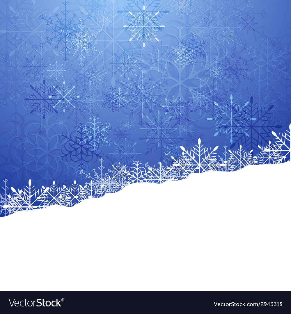 Christmas blue background with snowflakes vector | Price: 1 Credit (USD $1)