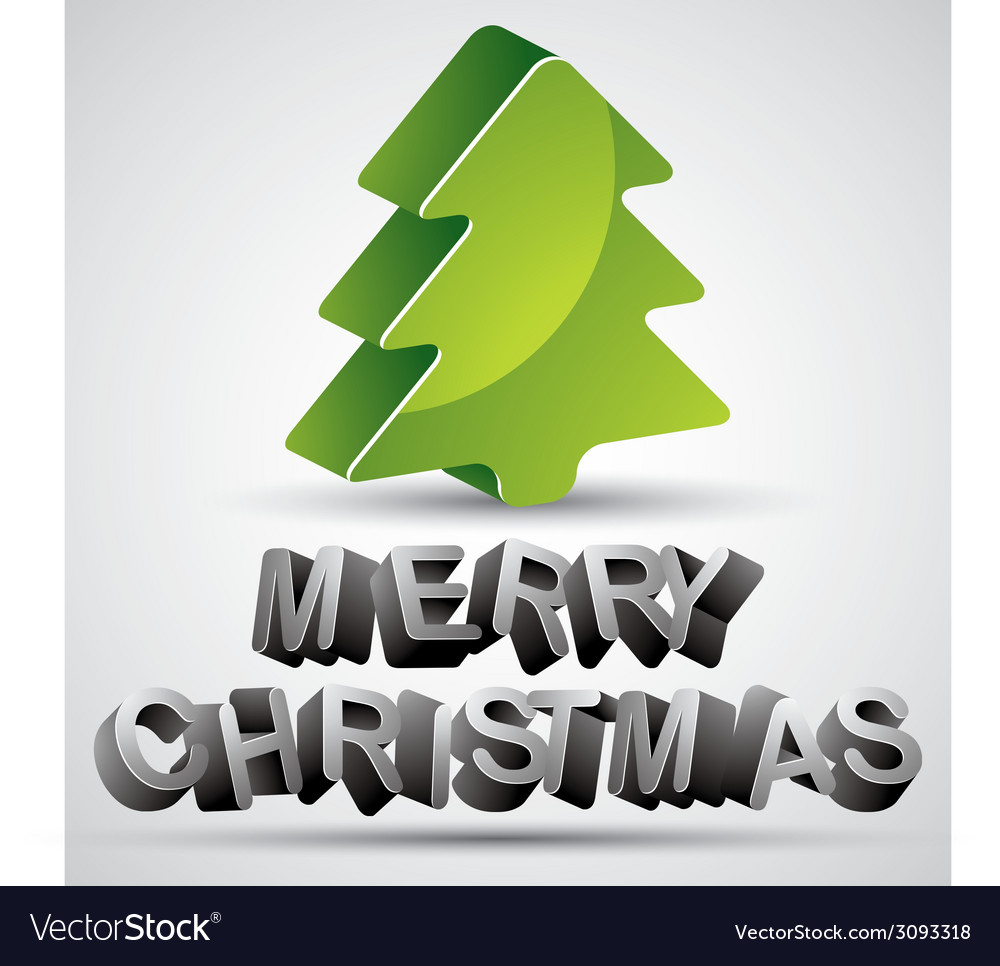 Christmas greetings card with 3d letters and vector | Price: 1 Credit (USD $1)
