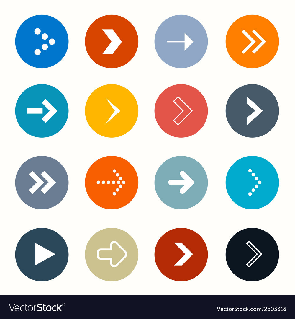 Circle arrows set on white background vector | Price: 1 Credit (USD $1)