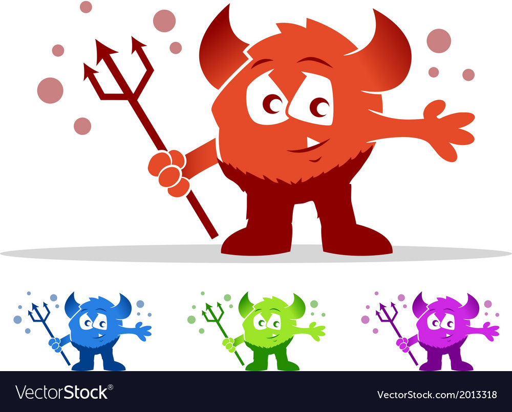 Cute devil monster vector | Price: 1 Credit (USD $1)