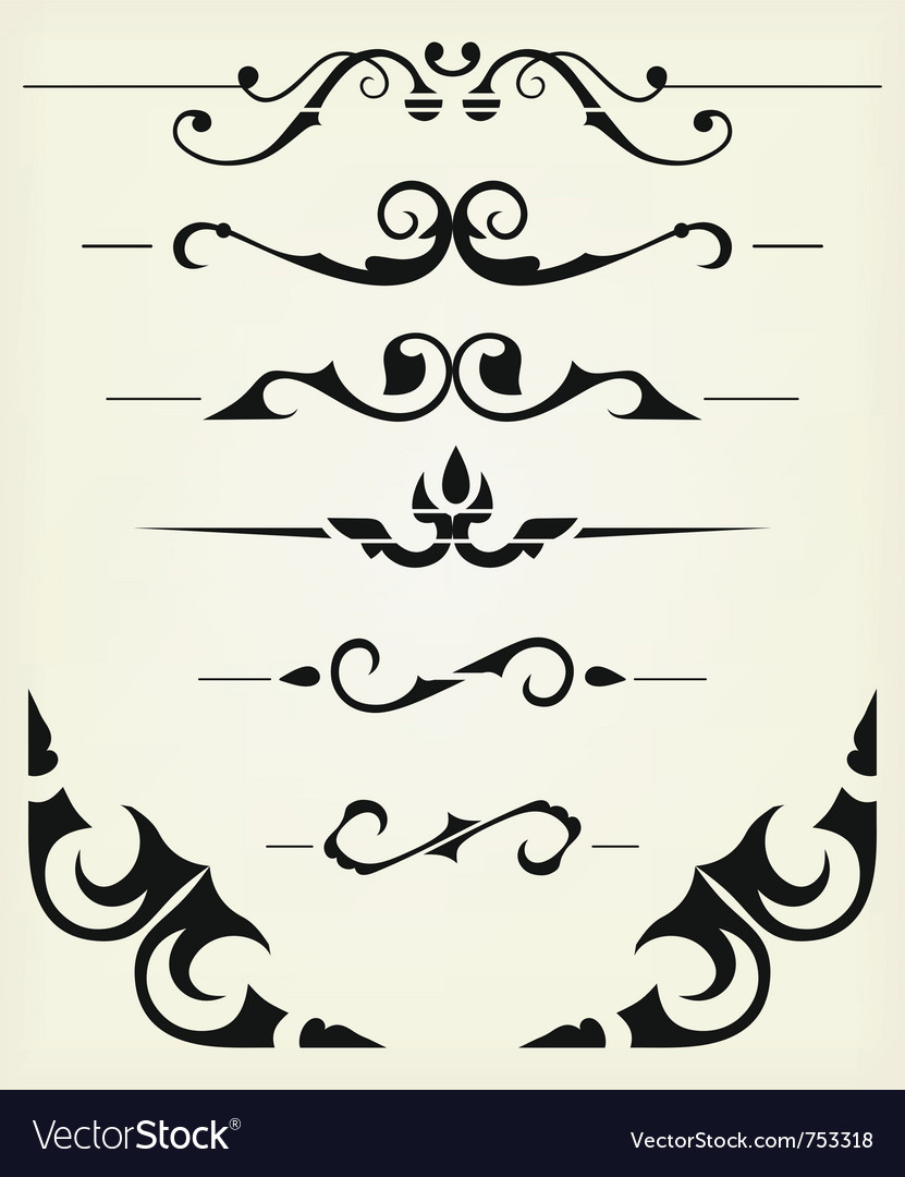 Decorative elements vector | Price: 1 Credit (USD $1)