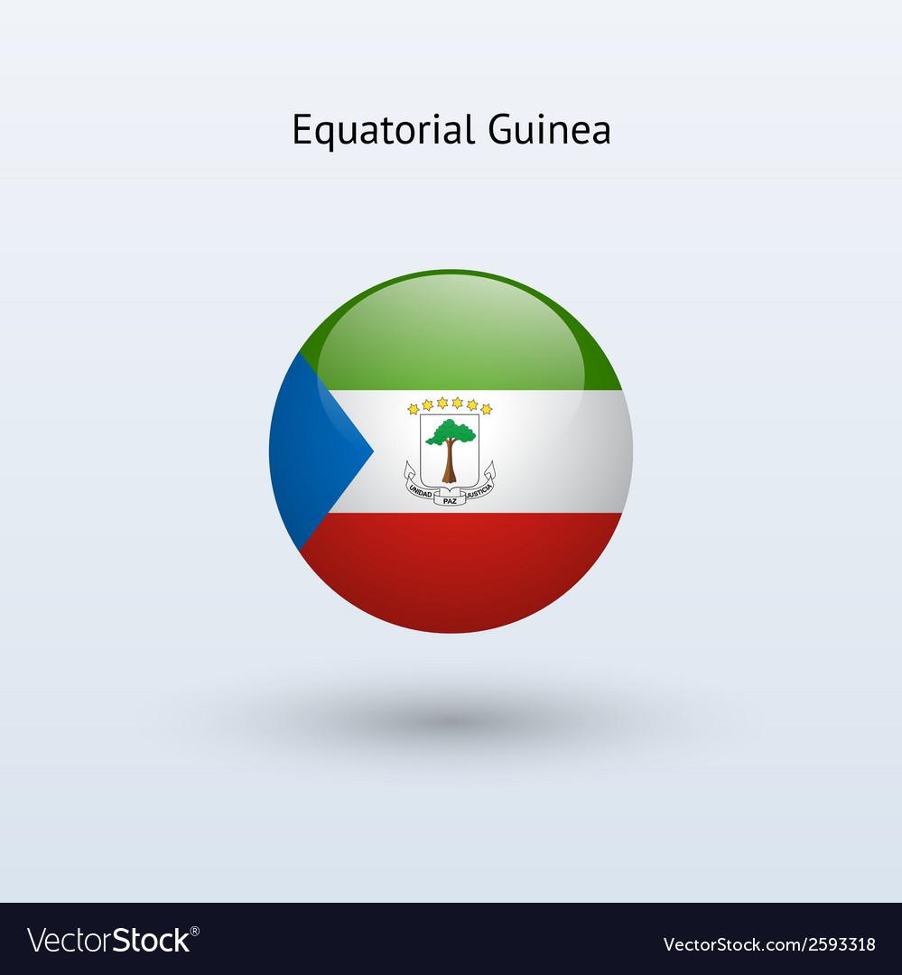 Equatorial guinea round flag vector | Price: 1 Credit (USD $1)