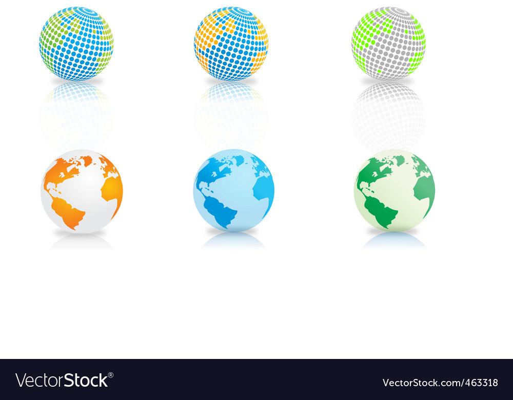 Globe maps vector | Price: 1 Credit (USD $1)
