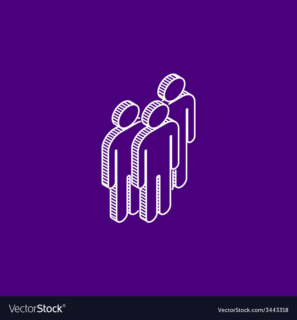 Isometric icon of people group vector | Price: 1 Credit (USD $1)