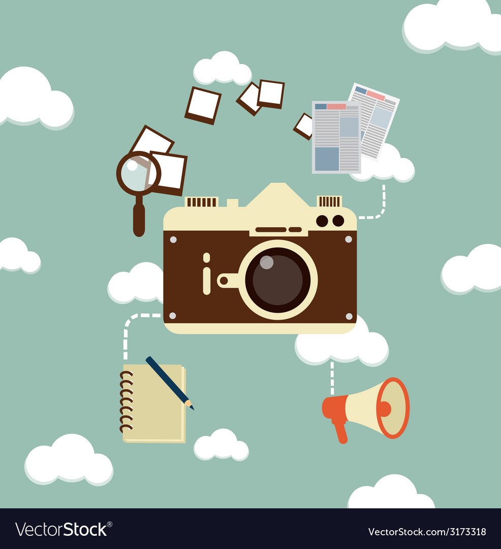 Journalist photographs vector | Price: 1 Credit (USD $1)