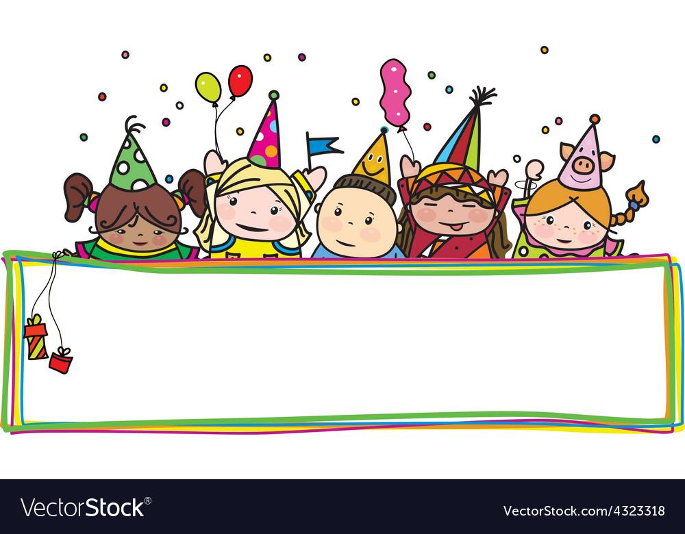 Kids birthday frame vector | Price: 1 Credit (USD $1)