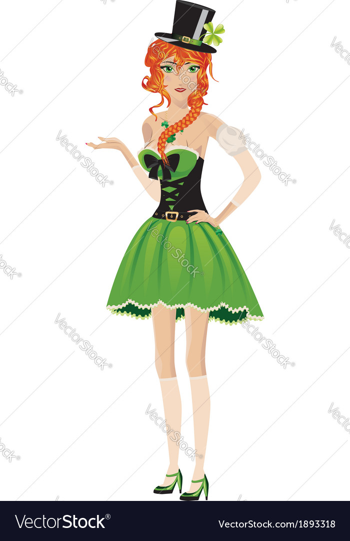 Leprechaun girl vector | Price: 1 Credit (USD $1)