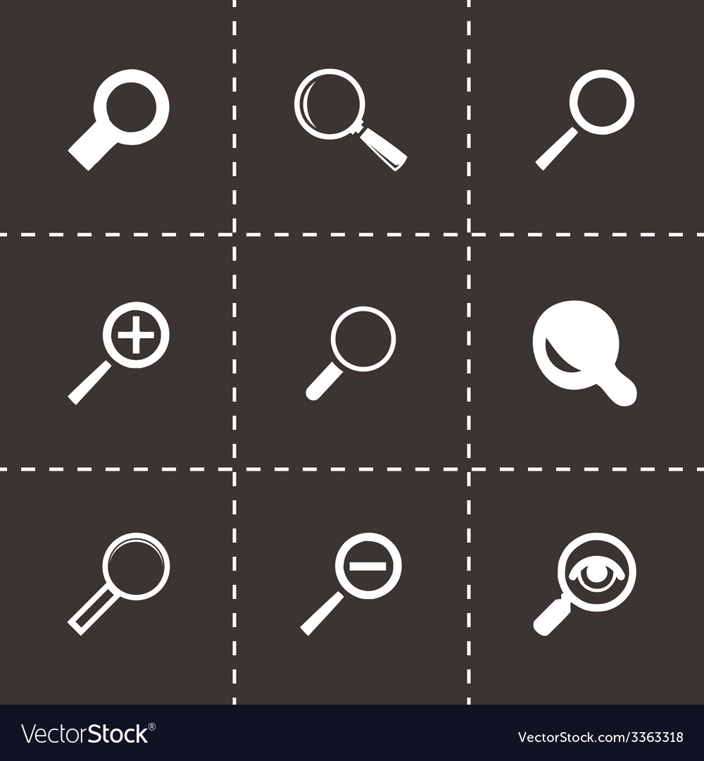 Magnifying glass icons set vector | Price: 1 Credit (USD $1)