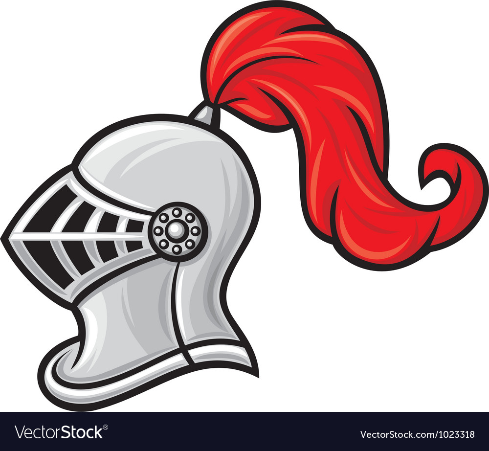 Medieval knight helmet vector | Price: 1 Credit (USD $1)