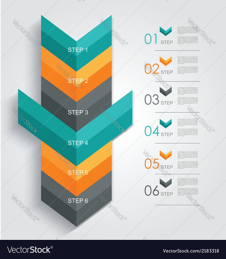 Minimal infographics or step banners template in vector | Price: 1 Credit (USD $1)