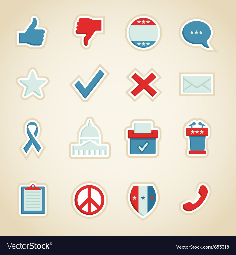 Political icons vector | Price: 1 Credit (USD $1)