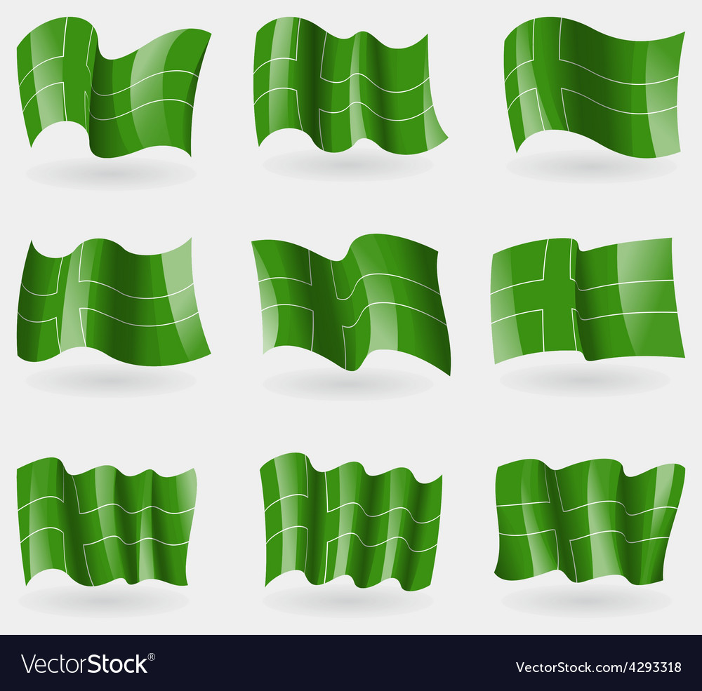 Set of ladonia flags in the air vector   Price: 1 Credit (USD $1)