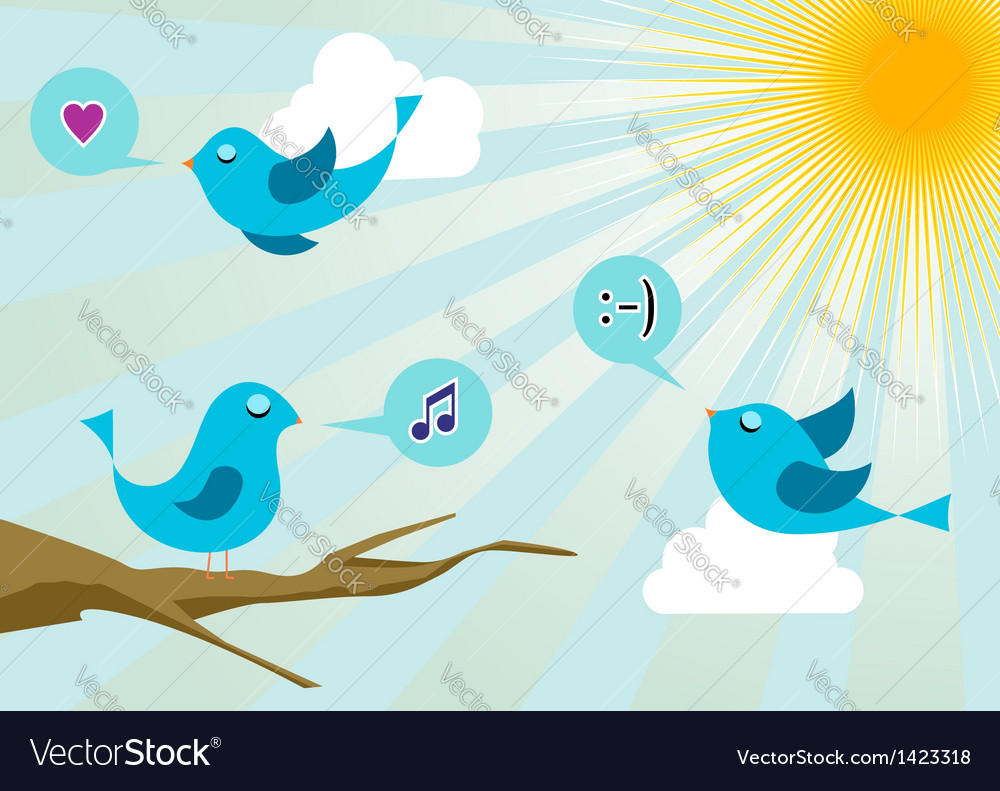 Social media twitter birds vector | Price: 1 Credit (USD $1)