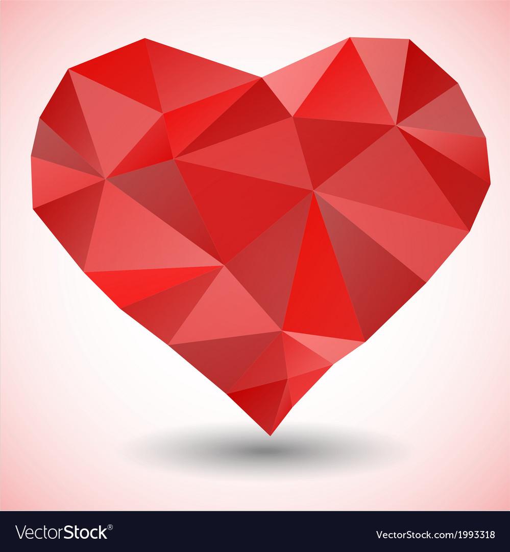 Triangle heart icon vector   Price: 1 Credit (USD $1)