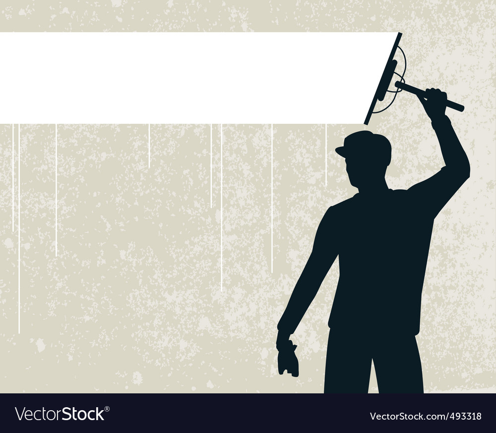 Window cleaner vector | Price: 1 Credit (USD $1)