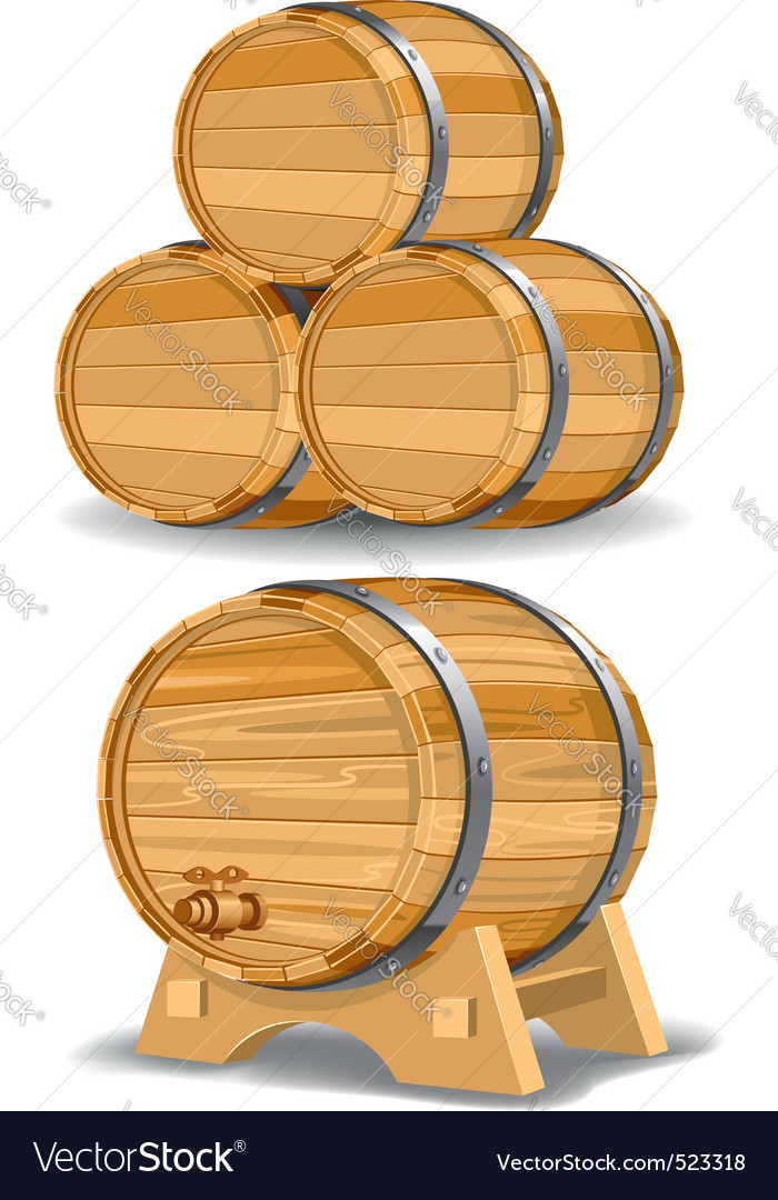 Wine barrel vector | Price: 3 Credit (USD $3)