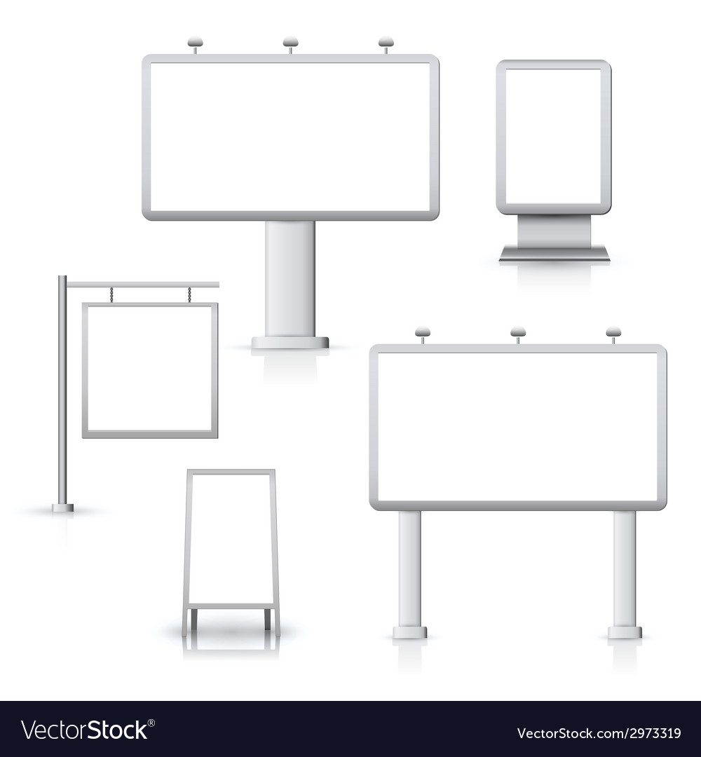 Blank advertising boards vector | Price: 1 Credit (USD $1)