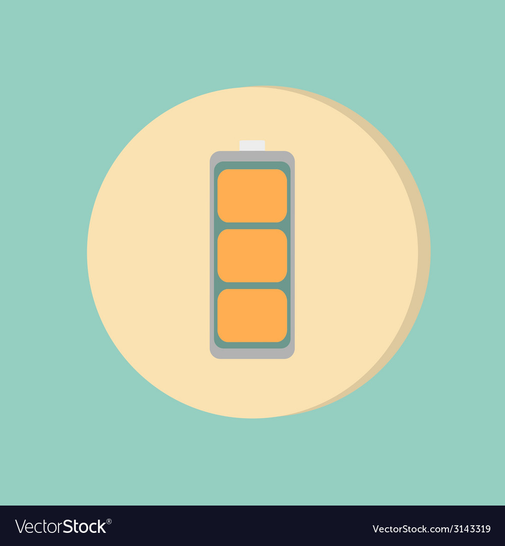 Charged battery symbol a charged battery icon vector | Price: 1 Credit (USD $1)